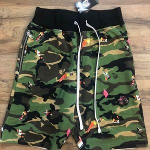 Other - Hustle Gang camouflage shorts